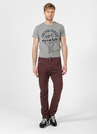 Jack & Jones Klasik Pantolon Bordo